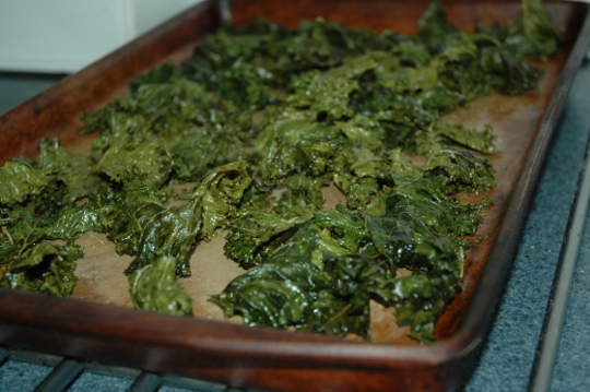 finished kale chips